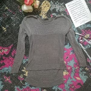 Gibson High Low Knit Sweater s grey Long Sleeve